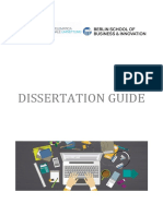 DISSERTATION GUIDE BSBI MBA and MA Programmes