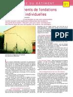 -01- Les mouvements des fondations de maisons individuelles (Tassements courants)