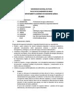 SILABO TRATAMIENTO DE AGUA SUBTERRANEA-AMB