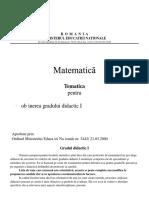 tematica-matematica-gradul-I