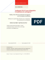 Validez del cuestionario CISS-V15 para el diagnóstico de la insuficiencia de convergencia