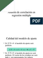 El análisis de correlación en la regresión múltiple
