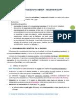 TEMA 2. VARIABILIDAD GENÉTICA - RECOMBINACIÓN
