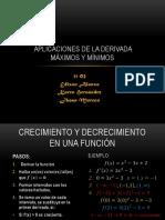 Aplicaciones de la derivada maximos y minimos.