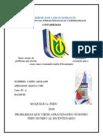 ENSAYO PROBLEMA PRINCIPAL DEL PERU