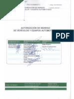 Autorización de Ingreso de Vehículos y Equipos Automotores 2017 SQM