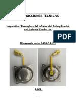 Instrucciones técnicas Inspección y reemplazo inflador lado conductor (2)