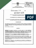 DECRETO 1308 DEL 30 DE SEPTIEMBRE DE 2020