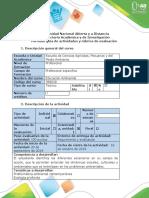 Guía de actividades y rúbrica de evaluación - Paso 3 - Diseño