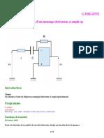 ELECTRONIQUE simulation derivateur