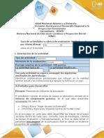 Guia de actividades y Rúbrica de evaluación - paso 2