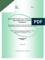 Recherche formative sur le parcours de soins de santé maternelle et infantile à Madagascar - volume 2 - 2008