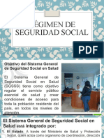 RÉGIMEN DE SEGURIDAD SOCIAL