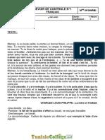 Devoir de Contrôle N°1 - français - 7ème (2010-2011)  Mme Fersi Radhia