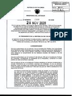 Decreto número 1550 del 28 de noviembre del 2020
