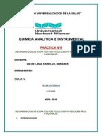Determinacion de fosfatos por titulacion potenciometrica acido-base. N°8