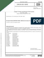 DIN EN ISO 10642-Hexagon socket countersunk head screws