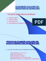 CLASE 14 PRINCIPALES EXAMENES AUXILIARES DEL APARATO RESPIRATORIO EN NEUMOLOGIA
