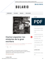 Clarice Lispector_ los misterios de la gran escritora _ Confabulario _ Suplemento cultural