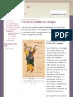 L'école St-Martial de Limoges - Découvrir la musique médiévale