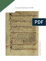 Sumer is icumen in, canon à six voix, vers 1310