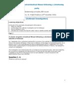واجب الأوبئة case study 2 outbreak of gastrointestinal illness