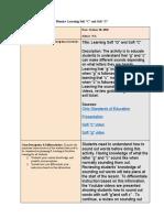 lesson plan edt442 phonics