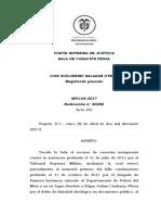 sentencia fuero jurisdicción penal militar y ordinaria
