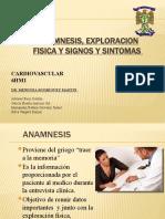 ANAMNESIS, EXPLORACION FISICA Y SIGNOS Y SINTOMAS