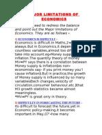 5 MAJOR LIMITATIONS OF ECONOMICS