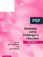 Autonomy & chalenges to liberalism articles