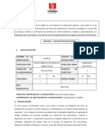 PROGRAMA QUIMICA ING INDUSTRIAL