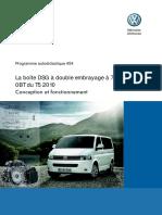 La boîte DSG à double embrayage à 7 rapports 0BT du T5 2010