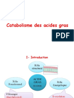 3-Catabolisme des A.G (beta-oxydation)