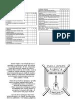 Criterios de Evaluación MUSICAL