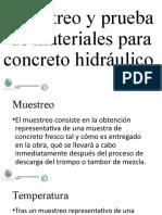Muestreo y Prueba de Materiales Para Concreto Hidráulico