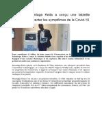 Guinée - Mountaga Keita a conçu une tablette capable de détecter les symptômes de la Covid-19.docx