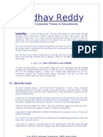 Madhav Reddy - Training Programs & Details