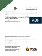 The Behavioral Revolution in Contemporary Political Science_ Narr
