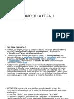 ESTUDIO DE LA ETICA I