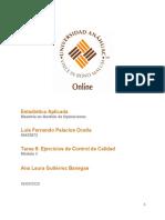 Tarea 5 Aplicación de Conceptos de Estadística Aplicada a Los Procesos de Calidad_Luis Palacios_04.09.2020