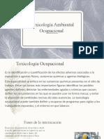 Toxicología Ambiental Ocupacional