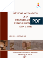 Examenes de Matematicas de Ingenieria Quimica resueltos