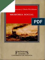 (Frónesis) James Fentress_ Chris Wickham - Memoria social-Cátedra _ Universidad de Valencia (2003).pdf