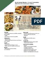 Menus de La Cuisine de Meme Moniq Du 21 Au 27 Novembre Special Livre Cuisine Enfants