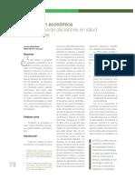 articulo evaluacion economica