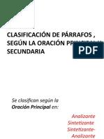 OTRA CLASIFICACIÓN DE PÁRRAFOS