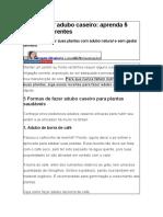 5 FORMAS DE FAZER UM ADUBO CASEIRO
