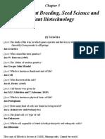Genetics and Plant Breeding Question Bank