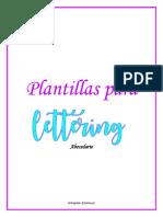 Plantillas de abecedario en lettering